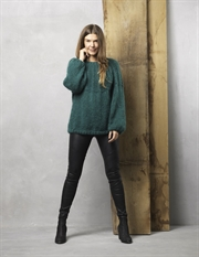 0c692281 Strikkeopskrift - Lækker sweater strikket i Dolce Kid Mohair