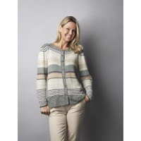 2909, Jazz Bamboo, Cardigan med Blonde og Striber