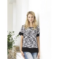 2907, Jazz Bamboo, Print-Bluse med A facon